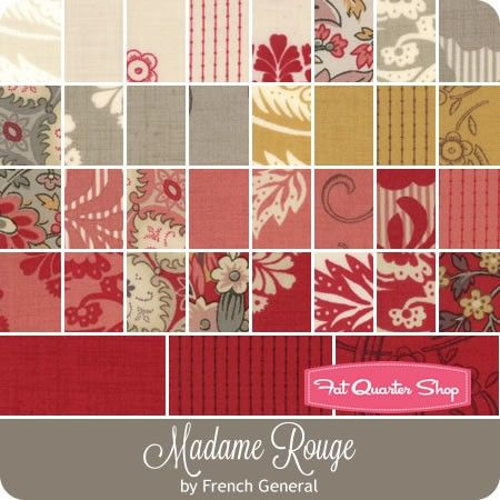 Moda 100/% cotton fabric quilting patchwork floral madame rouge french general