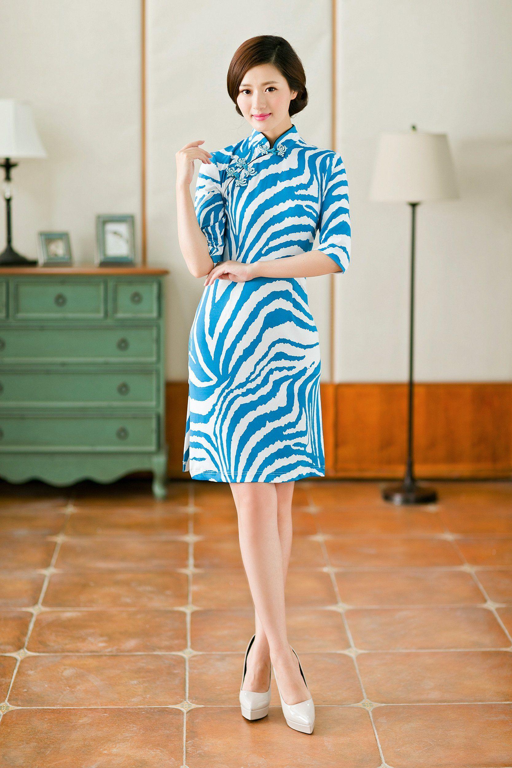 8cd6718548 Women Costume Special Modern Qipao Cheongsam Sheath Short Dress ...