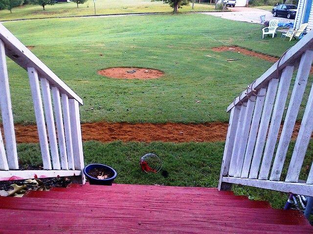 Our backyard baseball field   Backyard baseball, Baseball ...