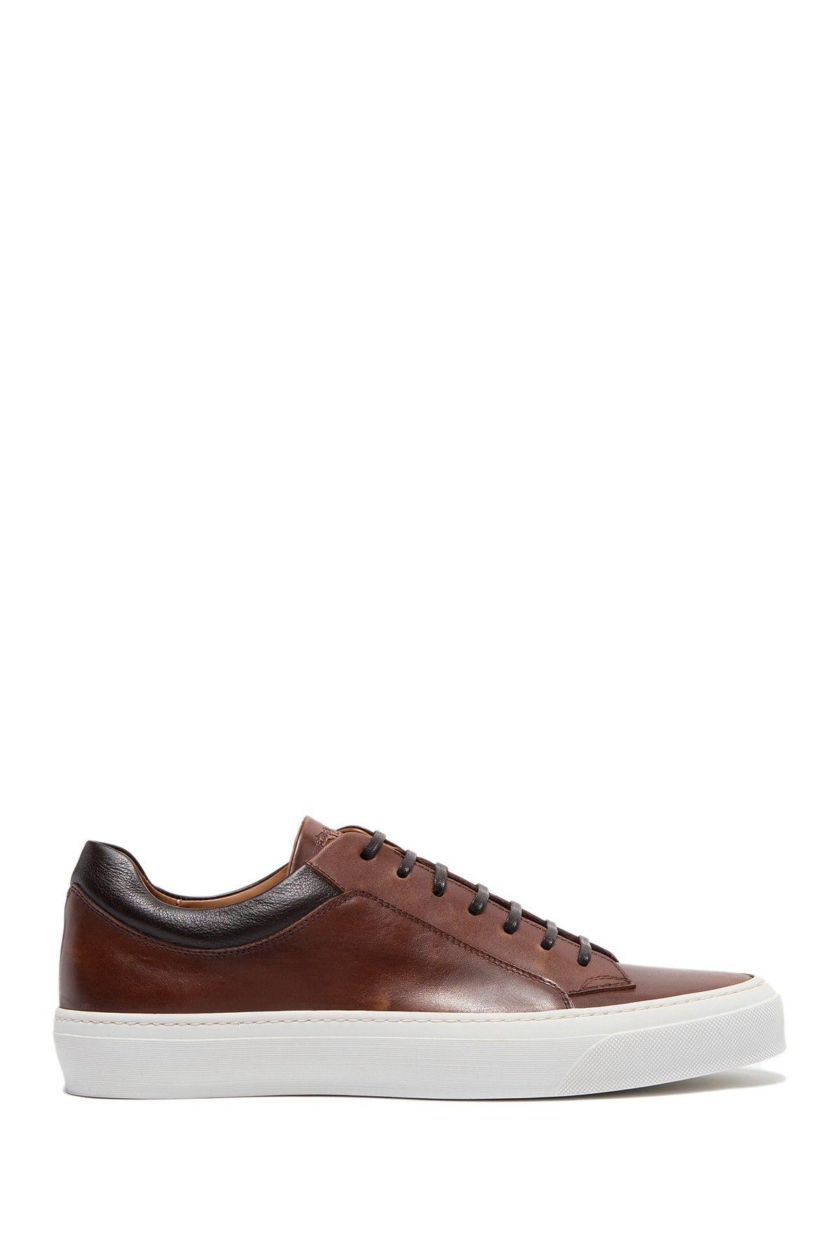 bruno magli leather sneakers