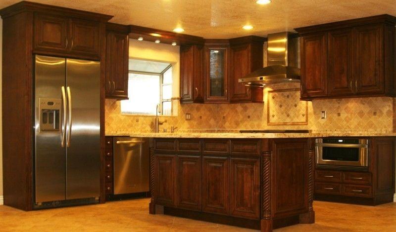 Chocolate Maple Kitchen Cabinets Pictures Gallery - WKCV ...