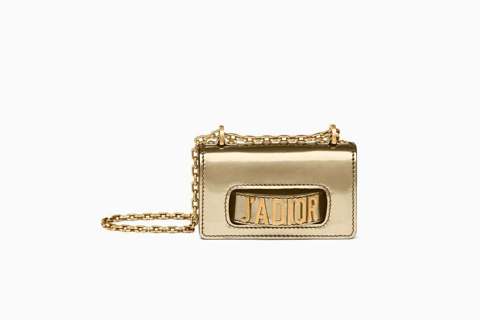 467dd1d944a1 Mini J adior flap bag in gold-tone metallic calfskin - J adior Dior ...