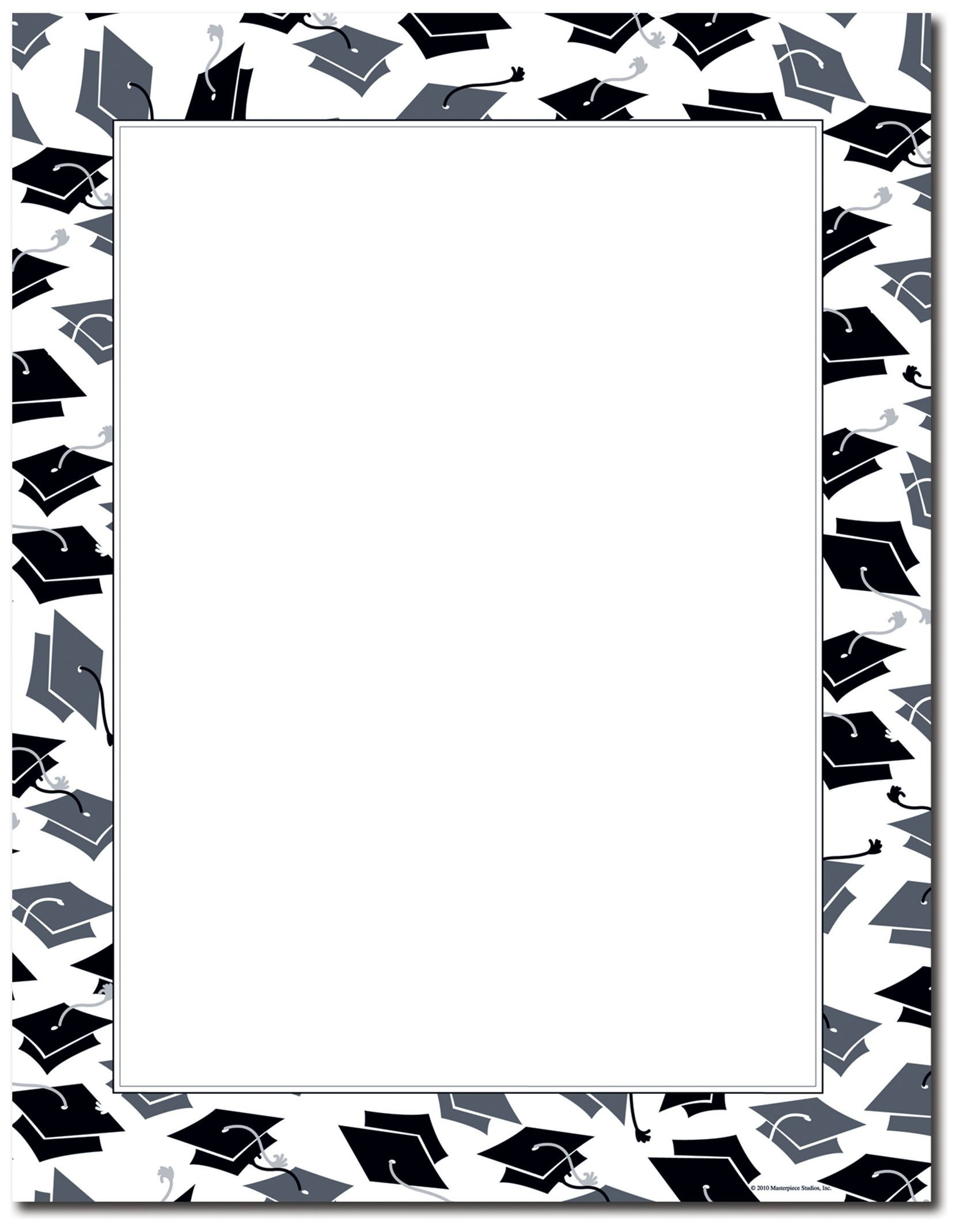 free printable graduation paper | Mortar Hat Border Letterhead ...