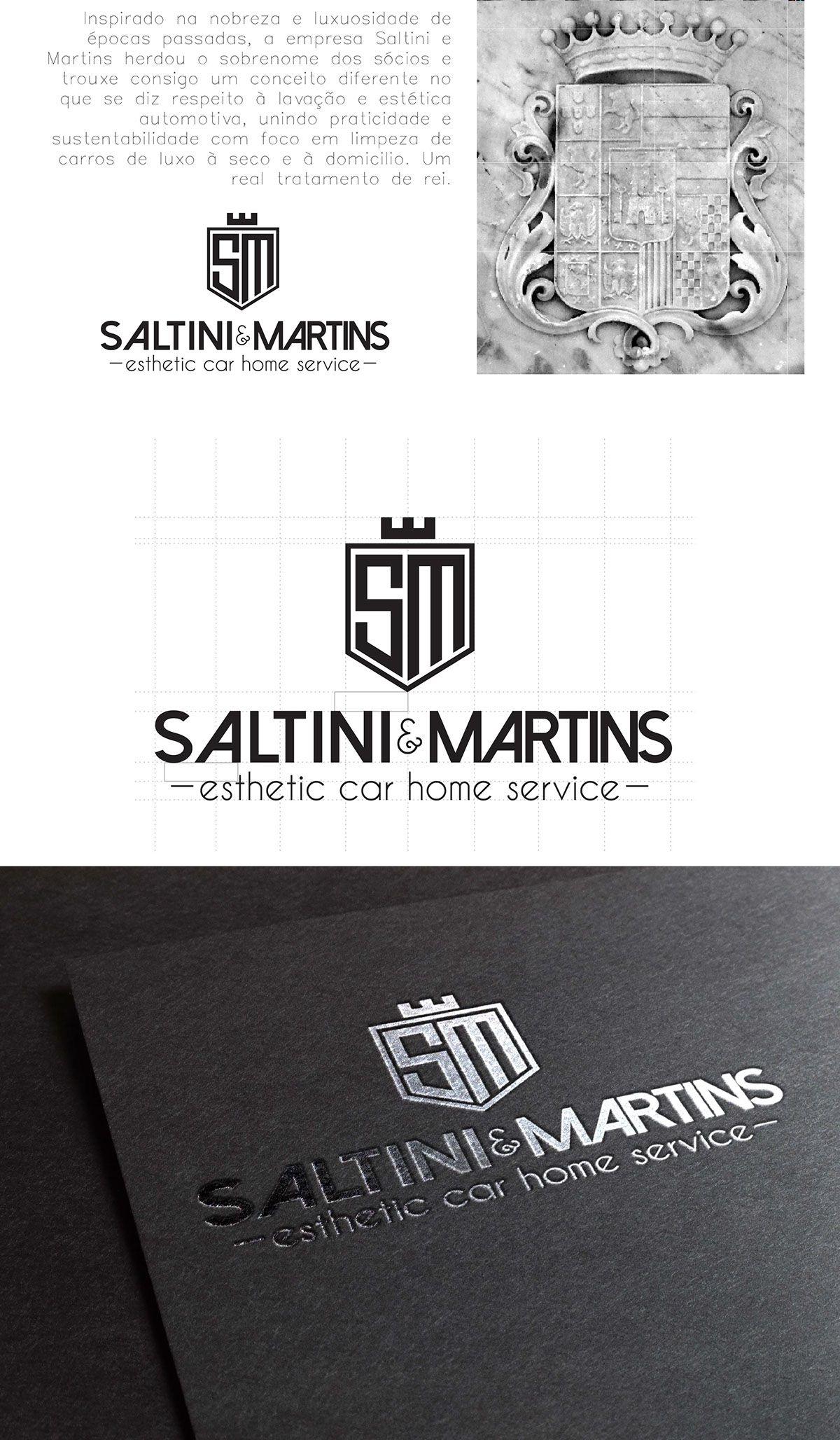 Logo para saltini u martins em itajaí sc design autorais