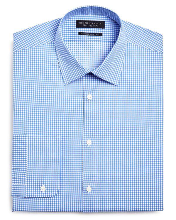 The Men's Store at Bloomingdale's Gingham Regular Fit Dress Shirt