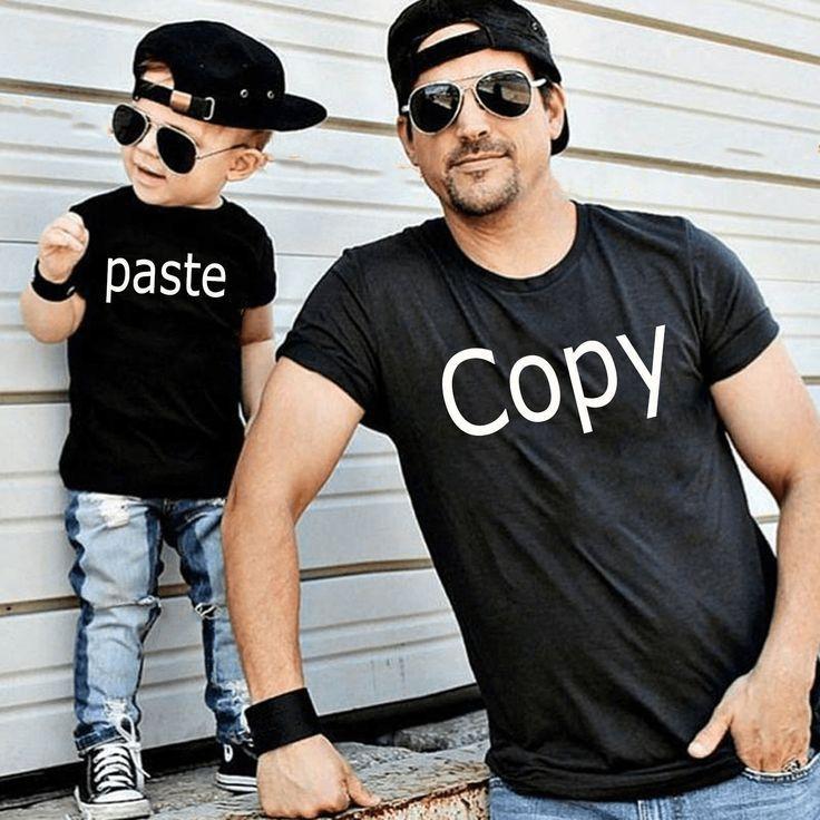Kopieren Einfügen Passendes TShirtSet Papa und ich TShirts Papa und ich Passendes   Regalos