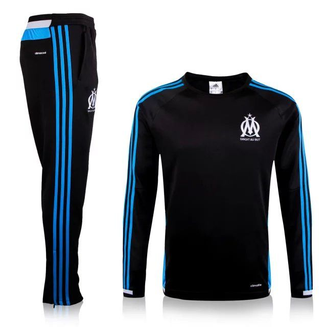 great quality authorized site fashion styles Grossiste Nouveau Survetement de foot Marseille OM Noir 2015 ...