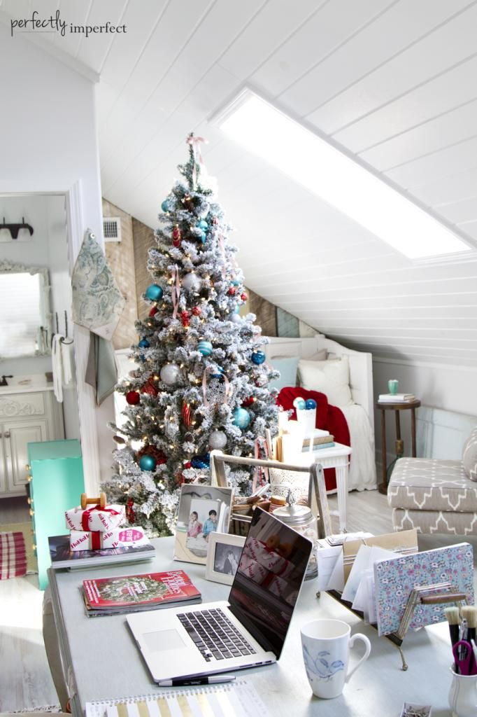 Christmas Home Tour, part 2 The Office Perfectly imperfect - office christmas decorations