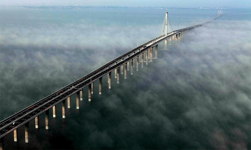 Jiaozhou bay Bridge, así se ve uno de los puentes más largos del mundo