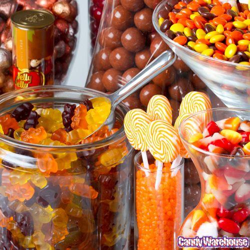 Fall Wedding Dessert Buffet: Autumn Candy Buffet #theme #sweet #ScotchStyle