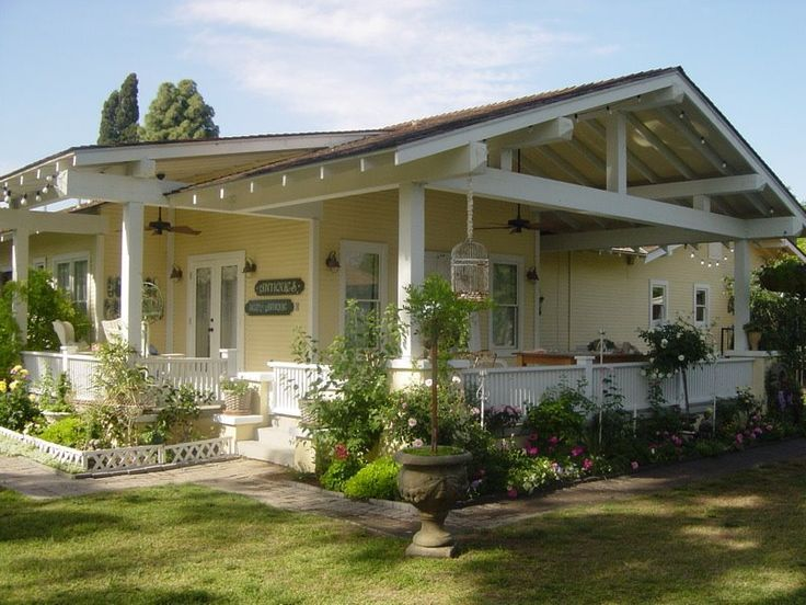 Image result for yellow craftsman bungalow Porch elevations