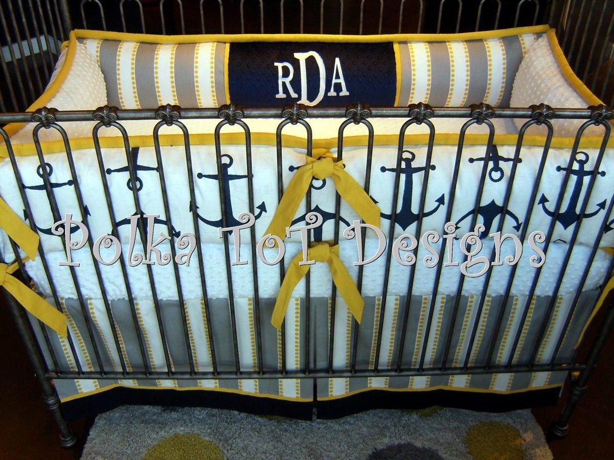 Anchors Away Nautical Crib Bedding Nautical Crib Baby