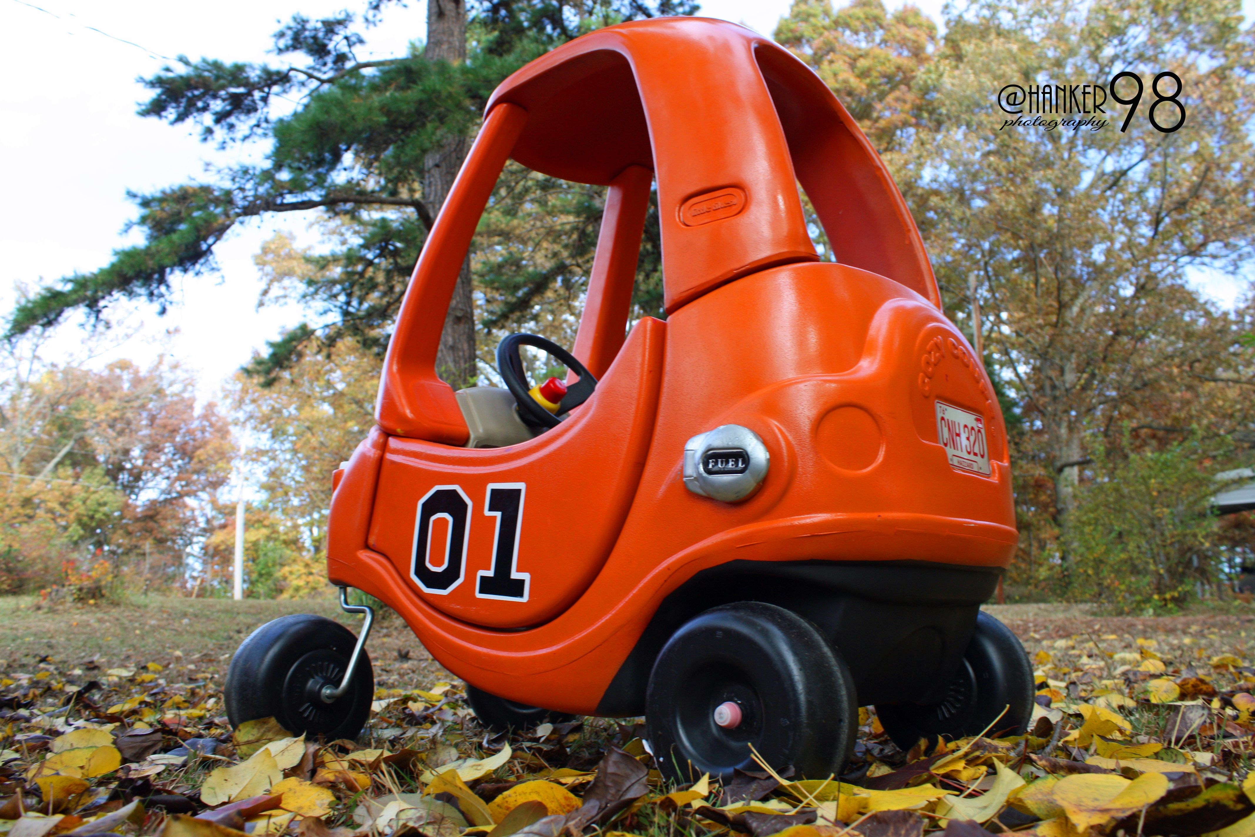 Ava's General Lee Cozy Coupe Car Custom Made