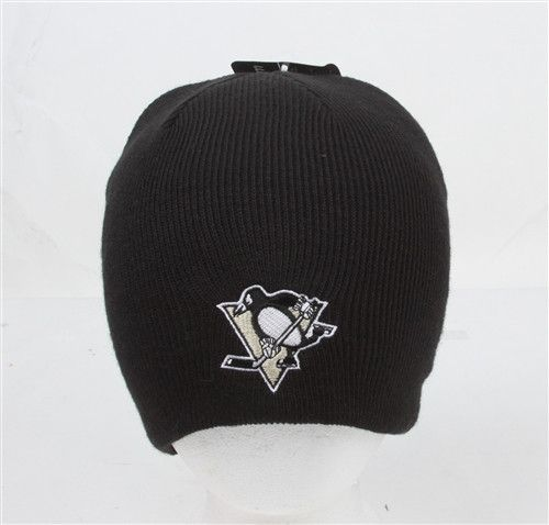 Pittsburgh Penguins Black Uncuffed NHL Classic Knit Cap Beanie