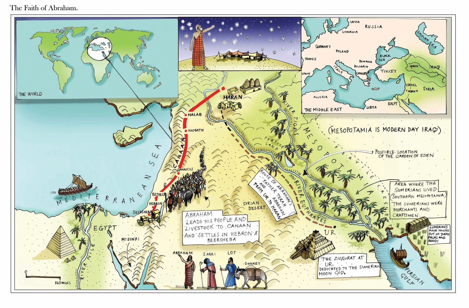 Map Of Abraham S Journey