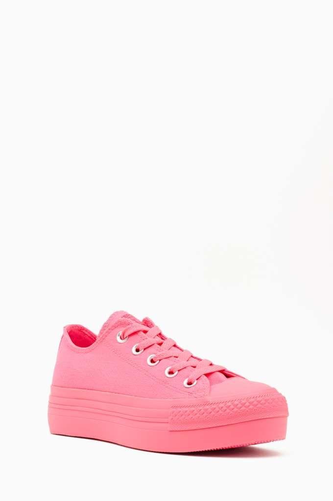 7b6a746e424f74 Converse All Star Platform Sneaker - Pink