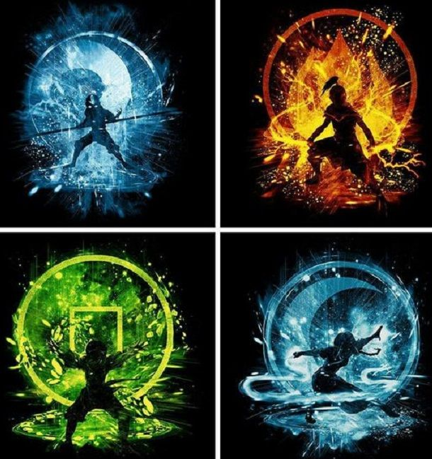 The 4 Elements Avatar The Last Airbender Avatar The Last