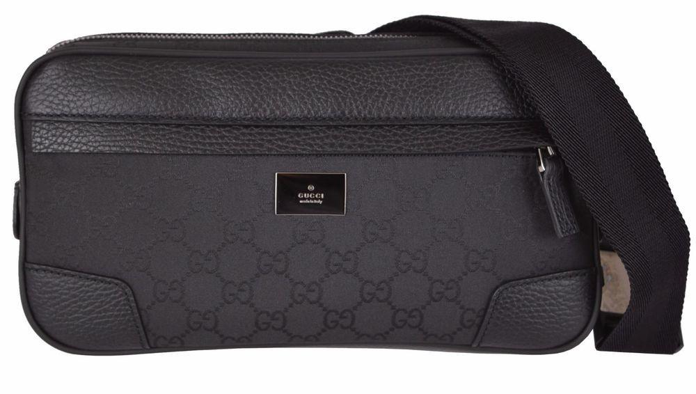3457b5d230a NEW Gucci 336672  795 GG Guccissima Black Nylon Fanny Pack Belt Pocket Bag   Gucci  FannyWaistPack