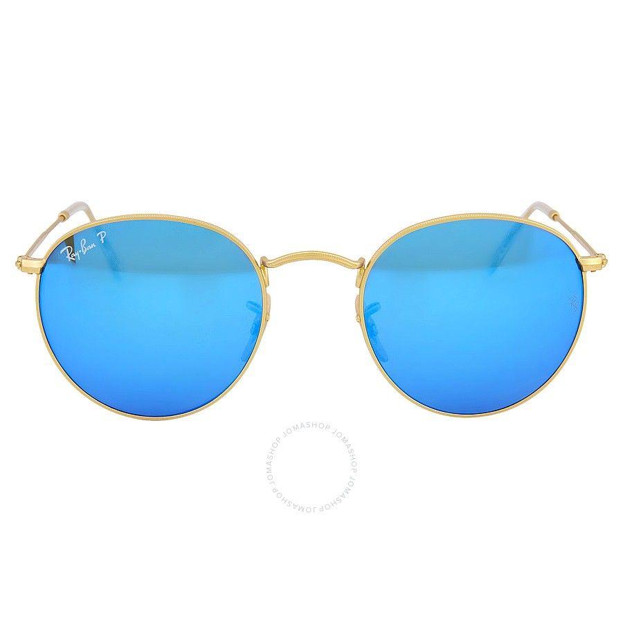 1575b02c64abfe Ray-Ban Round Polarized Blue Flash Sunglasses RB3447-112-4L-50-21 - Ray-Ban  - Sunglasses - Jomashop