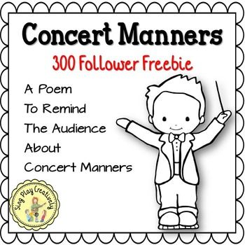 I Wrote This Concert Manners Poem For MusicDramaEventsPrograms