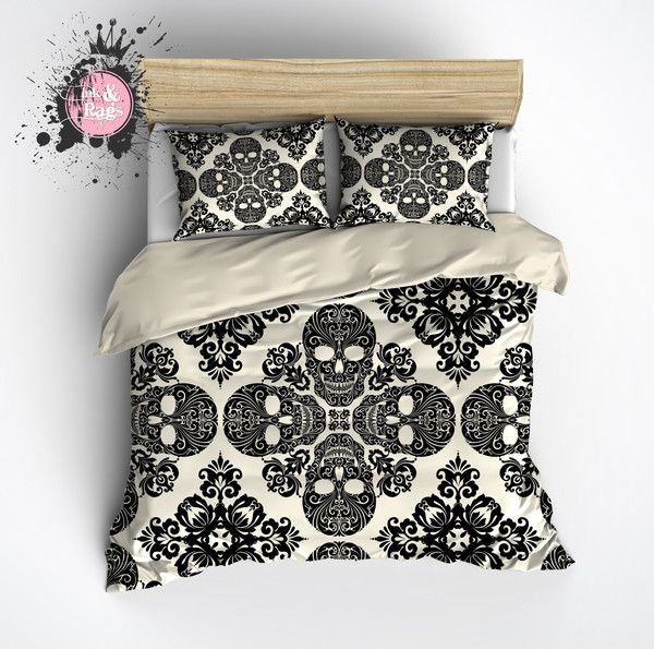 Black Diamond Skull Bedding Cream Skull Bedding Bed Home Decor