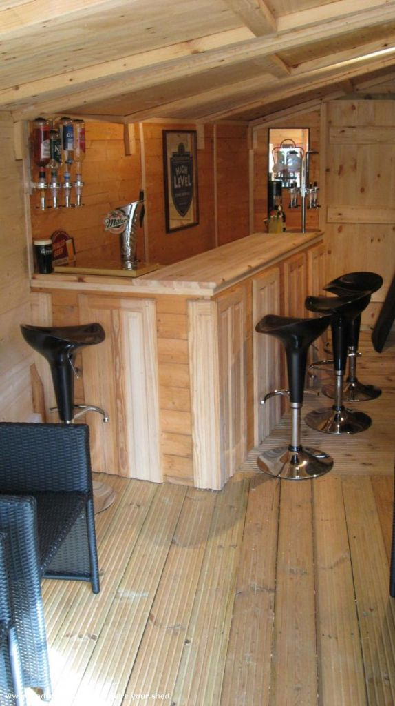 Shed Man Cave Bar mancaves | Backyard shed man cave, Bar ...