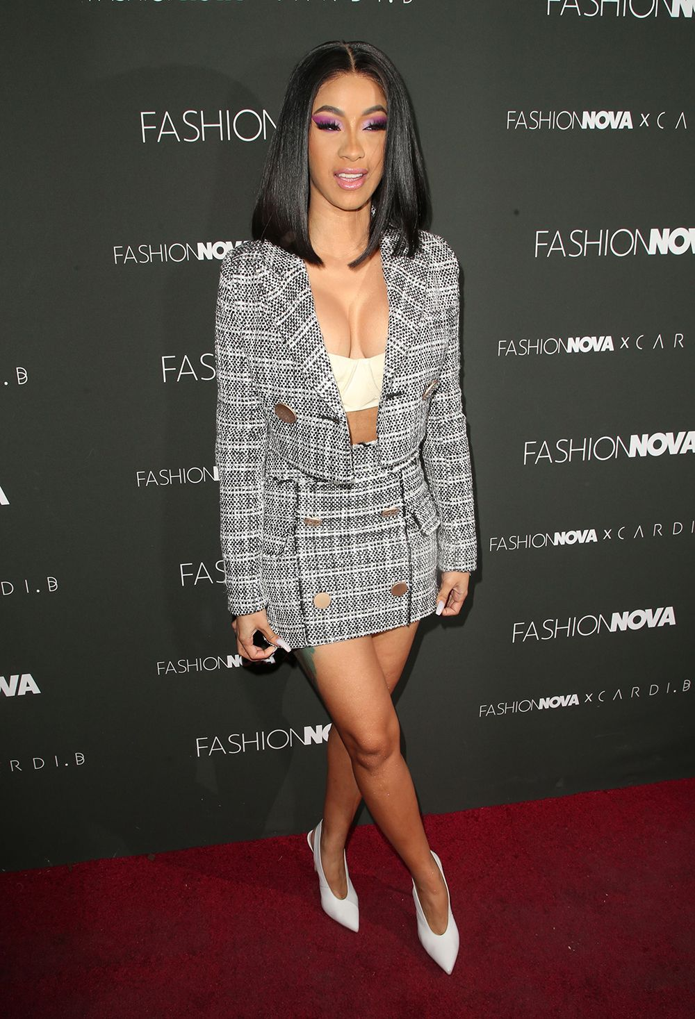 c96fdc9a8fd Cardi B rocked one fierce outfit at her Fashion Nova x Cardi B launch  event. -- HollywoodLife