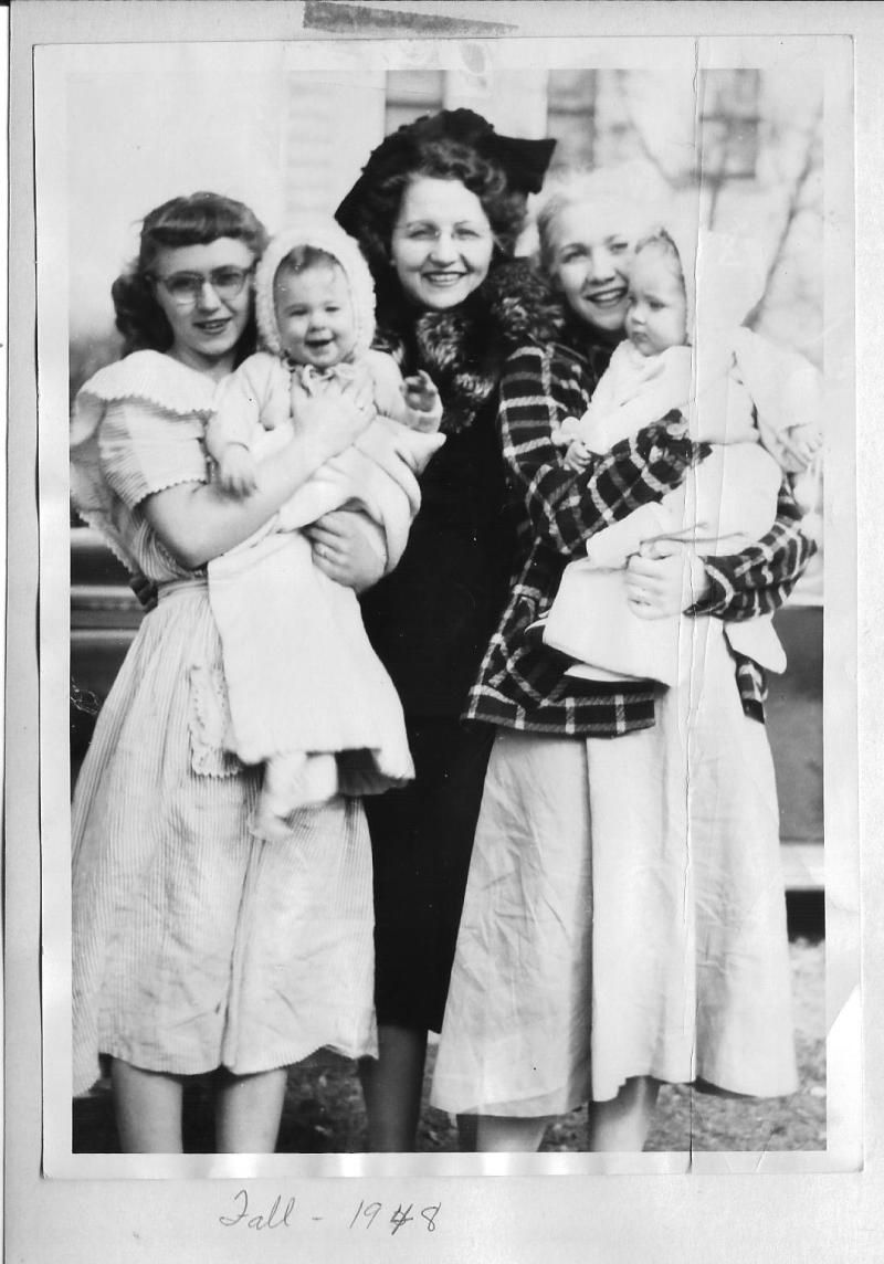 Leora Cook Barrus with daughters Jacquetta and Lynnette    History