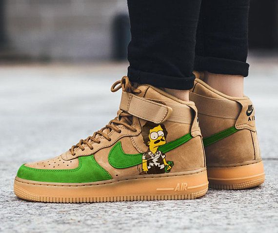 the best attitude d40e1 38bed Custom Nike Air Force one,escobart,simpsons,bart,custom sneakers,custom  shoes,custom nike ,custom kicks ,hand painted