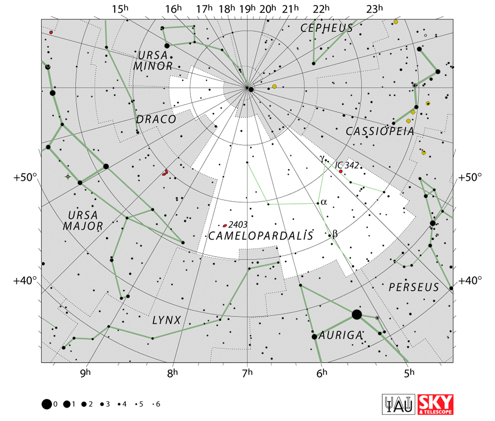 Camelopardalis Star MapCamelopardalis Star Chart  Star Map