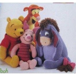 Disney Character Knitting Patterns : Winnie,Knorretje,Ioor,Tijgetje Haakpatronen Projecten om te proberen Pint...