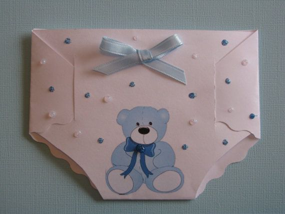 Baby Shower & Thank You Card diaper
