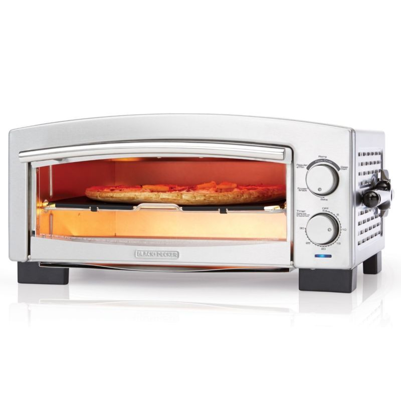 Commercial Pizza Oven Electric Kitchen Countertop Stainless Steel
