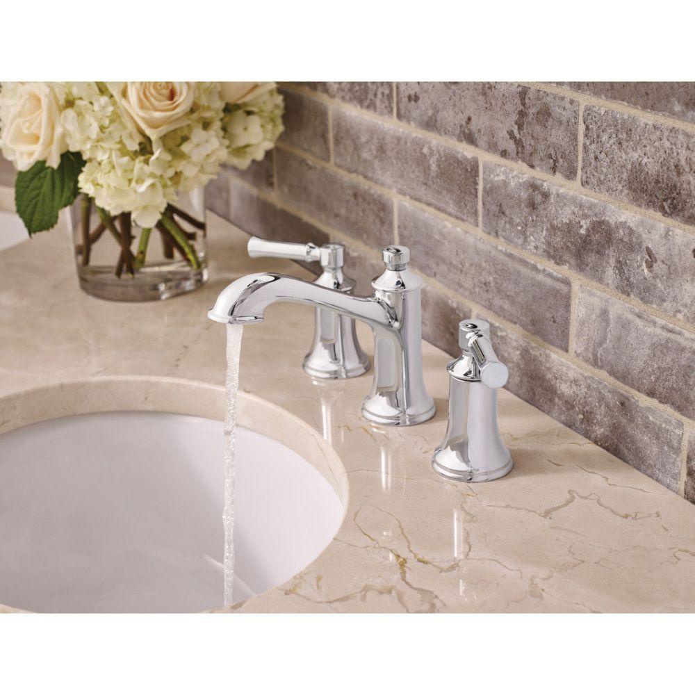 Moen T6805 Dartmoor Chrome Two Handle Widespread Bathroom