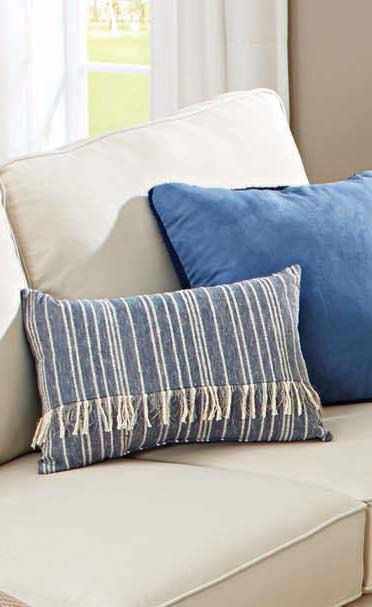Better Homes And Gardens Fringed Blue Denim Decorative Pillow Fascinating How To Decorate Bed With Pillows