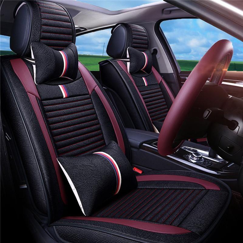 CAR SEAT COVERS fit Suzuki Wagon R red//black sport style full set