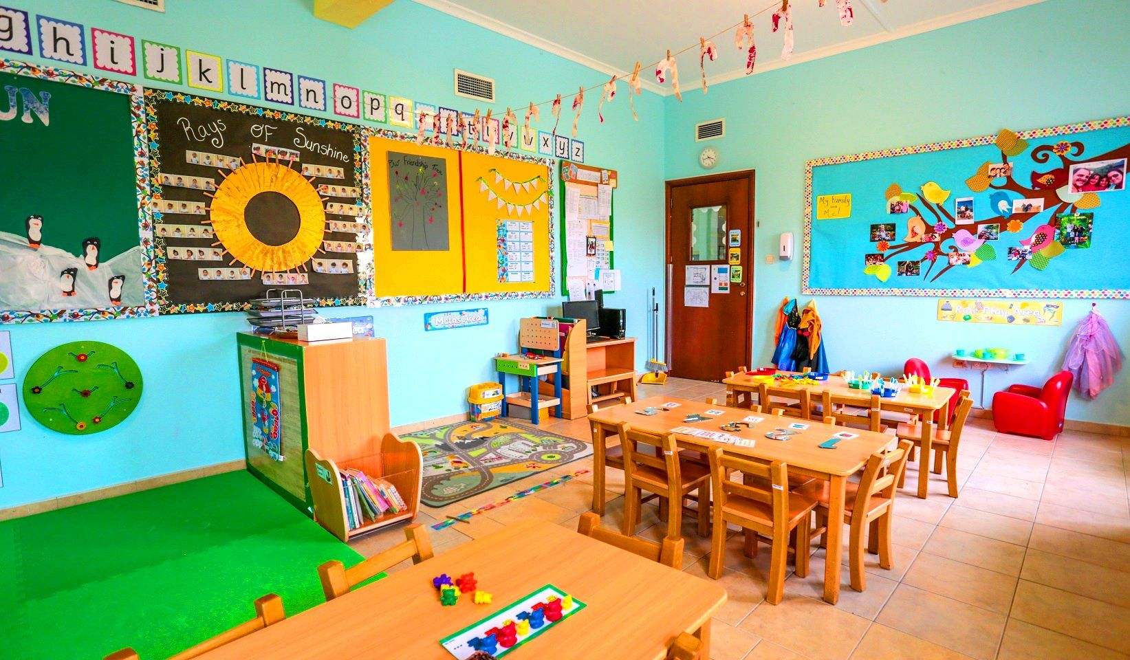 Classroom Decoration Nursery ~ Colourful classroom decor at our nursery preschool in