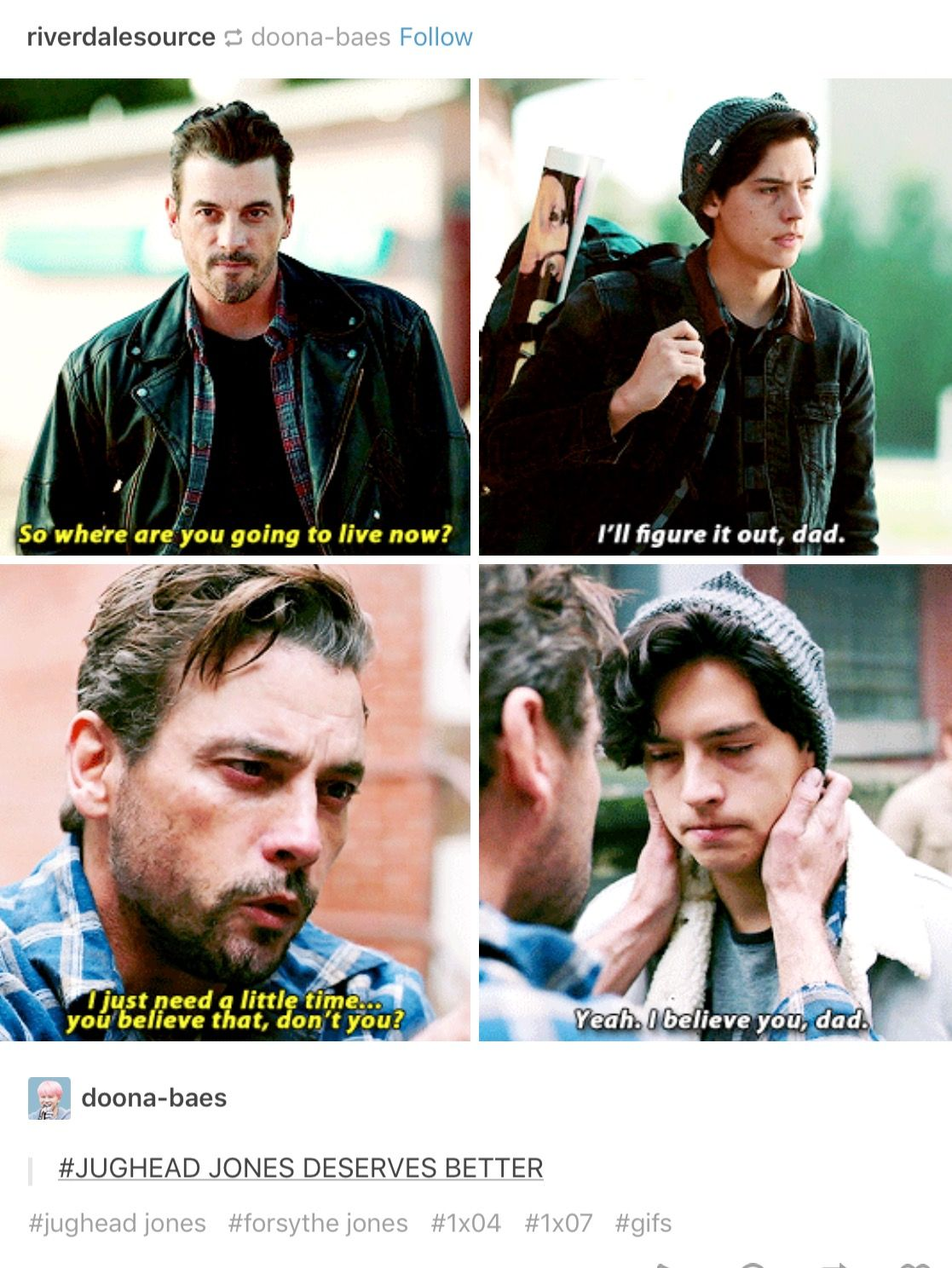 Jughead deserves so much better than that for a father ...