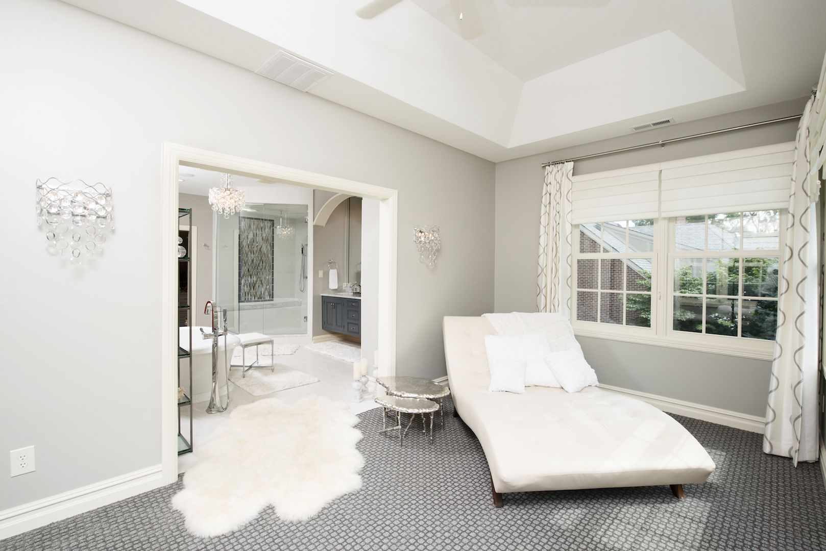 Leisure space built off of master bath Photo Credit: @WhonPhoto