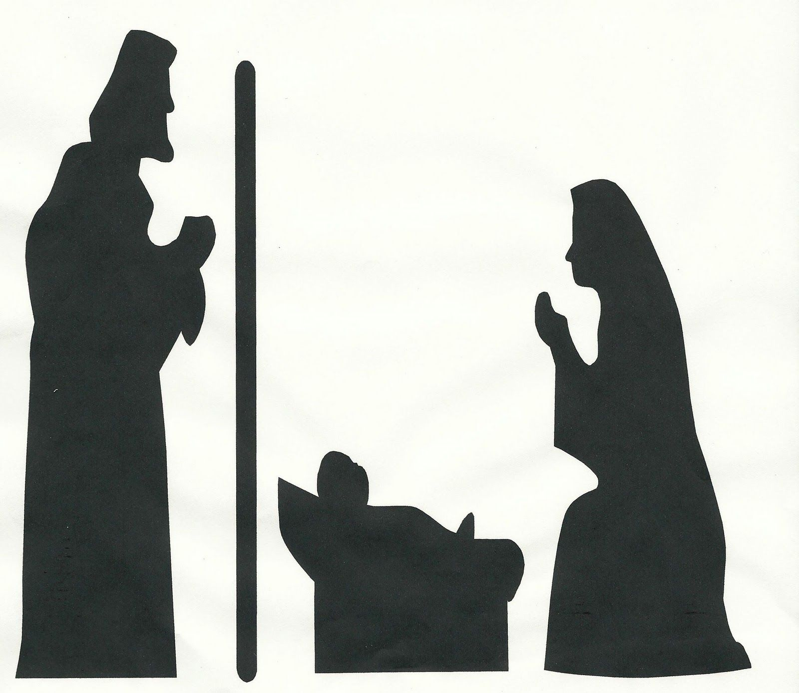 10 best navidad images on Pinterest | Nativity silhouette ...