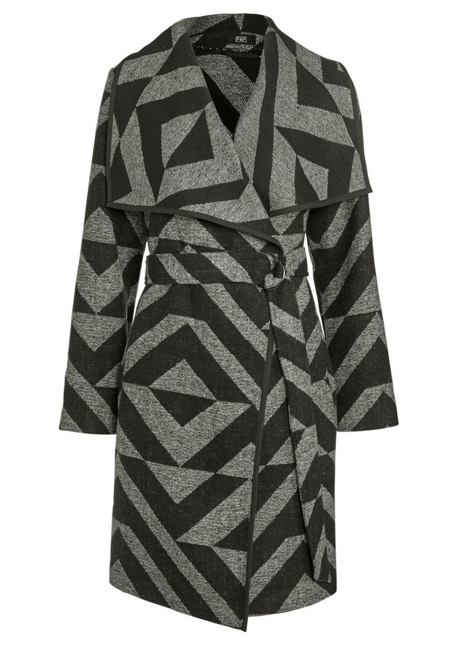 Clothing at Tesco   F&F Chevron Blanket Coat > coats