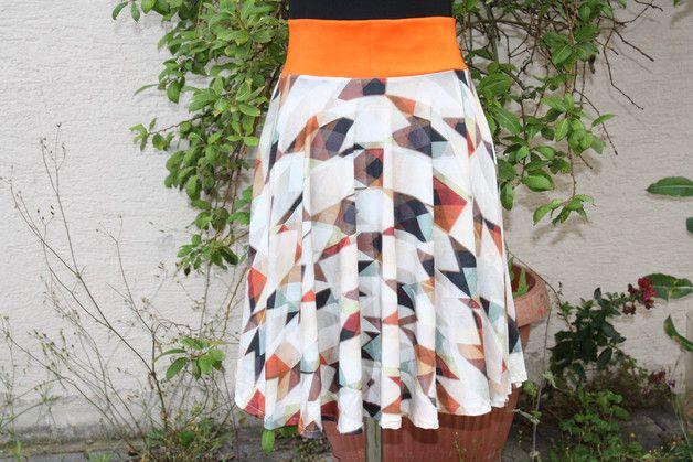 #Mode #Rock #Tellerrock #natur #braun #orange #oliv #schwarz #Jersey #ethno #cosplay  Tellerrock goes Ethno  Nach den Boho – Röcken und den leichten A-Form Röcken jetzt ein...