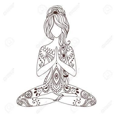 resultado de imagem para woman meditating drawing  arte