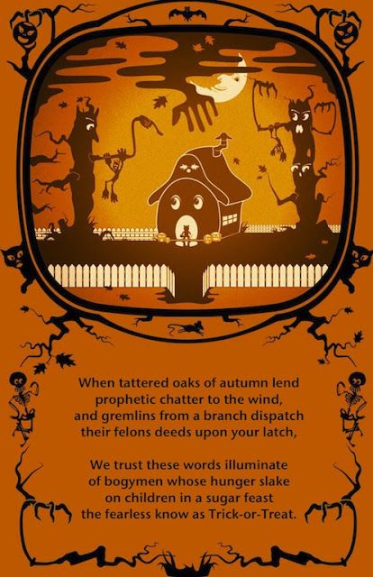 trick or treat halloween poems