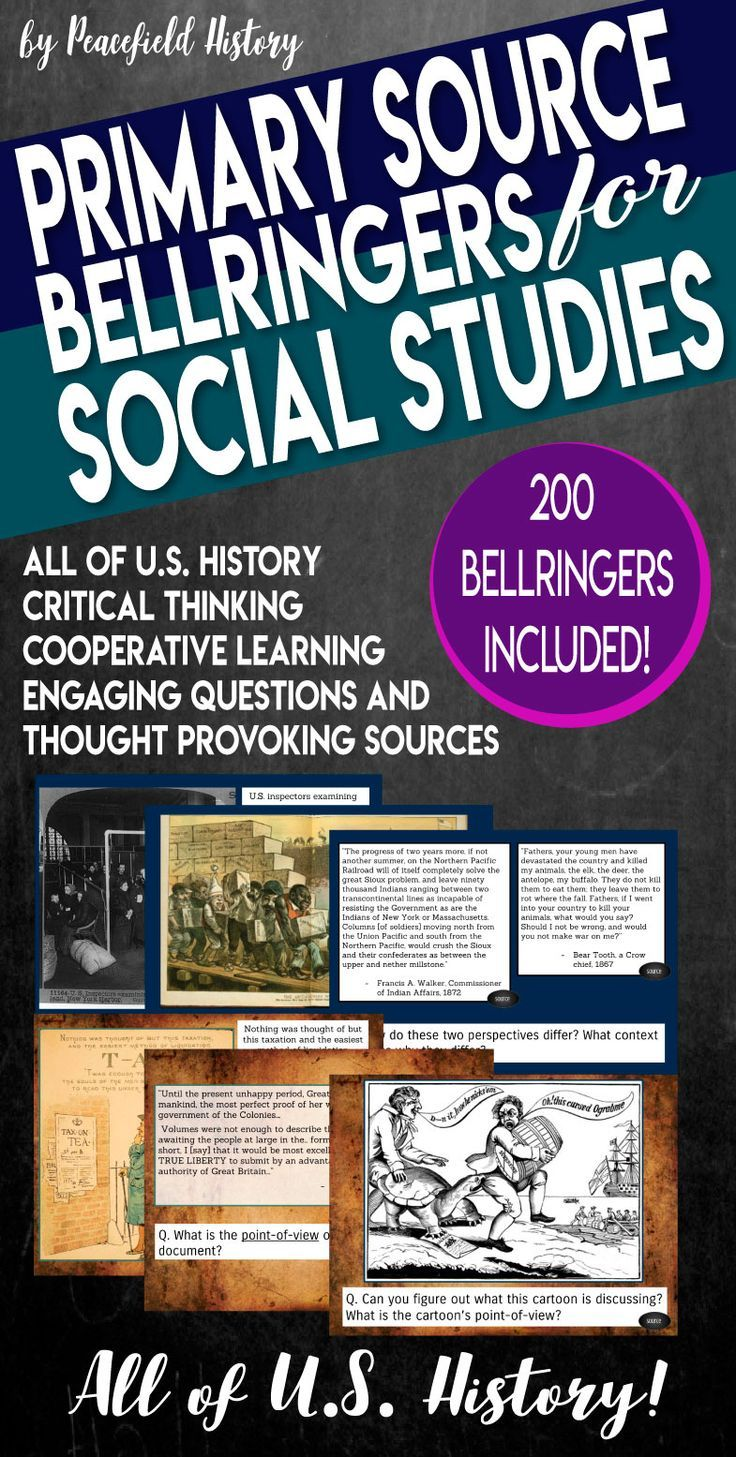 Photo of US History Bell Ringers Primary Sources Document Based Questions BUNDLE