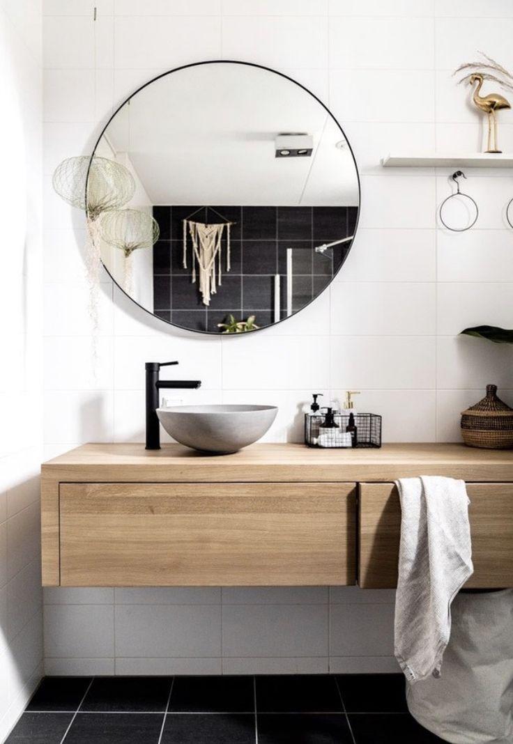 Massive Eiche Spendet Viel Warme Im Bad Dieses Schone Badezimmer