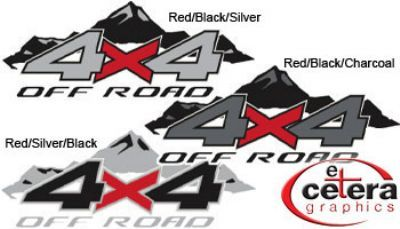 Vehicle Graphics X Off Road Mountains Truck Decals By Etc - 4x4 truck decals