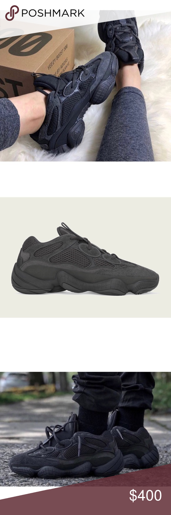 Yeezy 500 Utility Black Authentic Never worn Size 5 men 6 6.5 women s Yeezy  Shoes Sneakers 0b60f4a645
