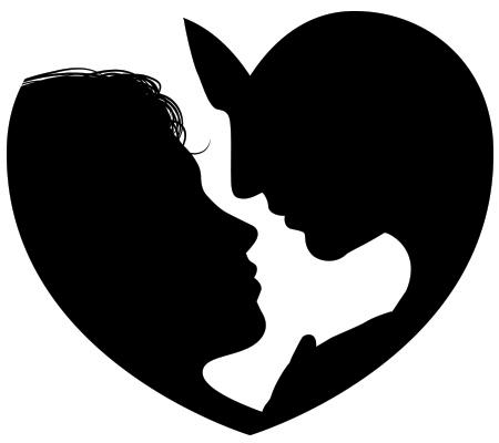 Couple Heart Silhouette Silhouette Art Couple Silhouette Love Silhouette