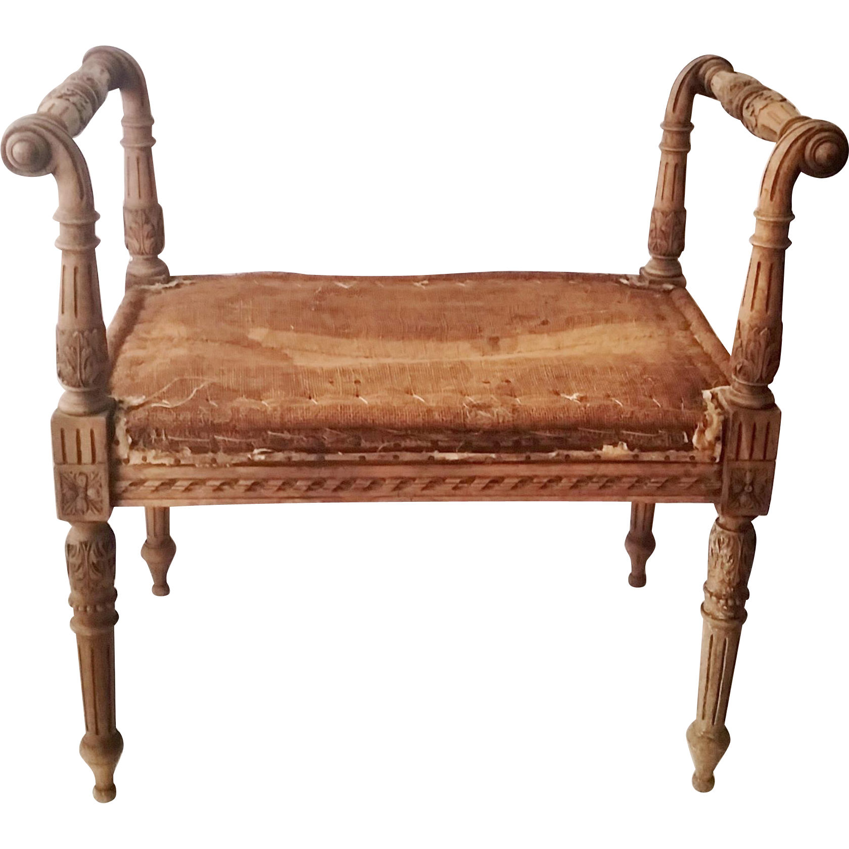 19th C French Walnut Bench Window Seat Antique French Bench Bench Window Seat